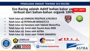 pemakaian eco racing jangka panjang