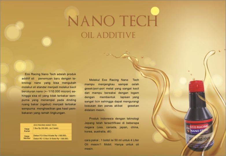 nano tech oil additive produk pt. best sinergy eco racing