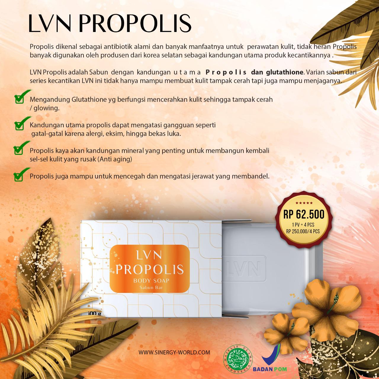 LVN Propolis body soap